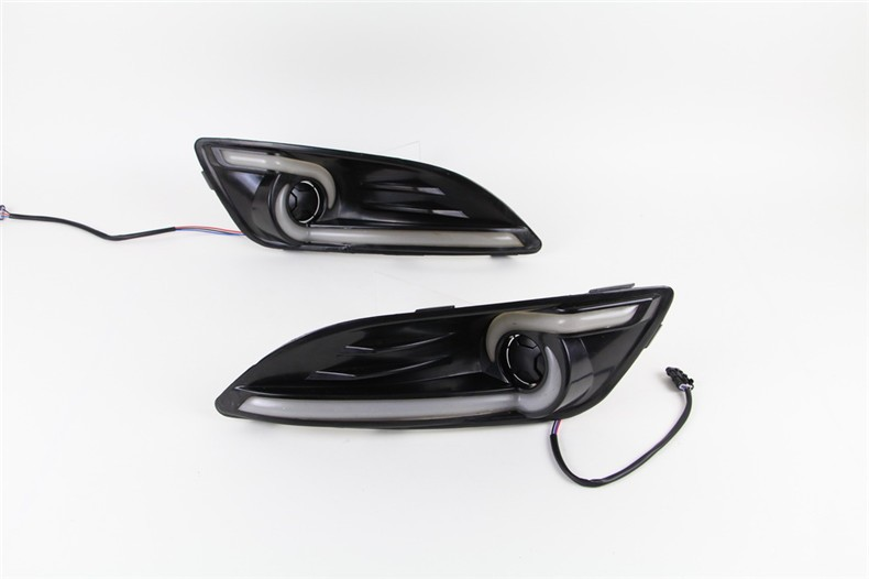 A&T car styling For Ford Fiesta LED DRL For Fiesta led fog lamps daytime running light High brightness guide LED DRL