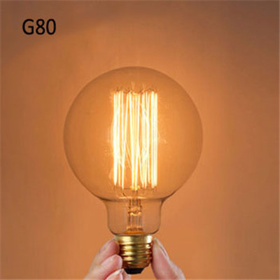 g80 edison bulbs incandescent vintage lamp bulb e27 globe. Black Bedroom Furniture Sets. Home Design Ideas