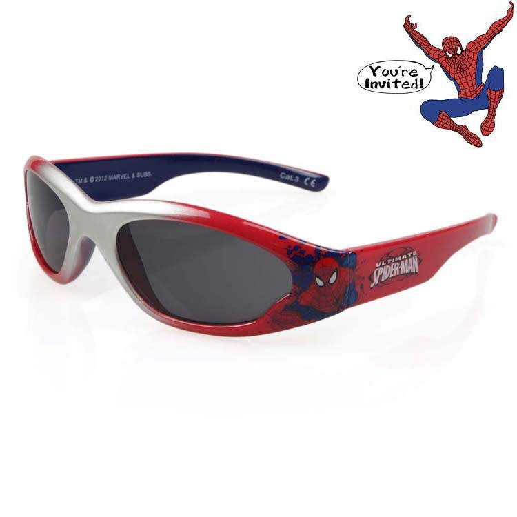 New Absolutely authentic Spiderman Boys Girls Sunglasses 100% UV protection outdoor windproof glasses child sunglasses 2015(China (Mainland))