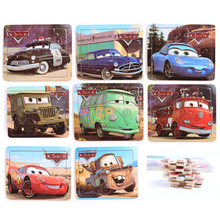 1Pcs 14*18CM Cartoon Cars Puzzles Kids Educational Toys Paper Classic Paper puzzle Jigsaw Puzzles for children(China (Mainland))