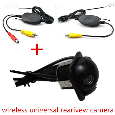 2.4ghz long range RCA Video wireless transmitter and receiver for car Universal Rearivew Camera Monitor DVD Cheapest(China (Mainland))
