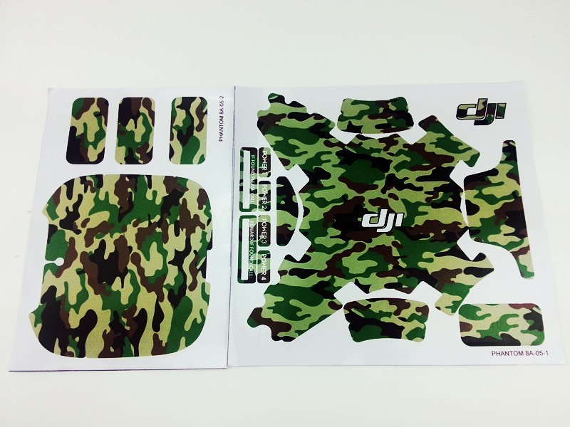 2016 PGY Camouflage Graphic Wrap Decal Skin For DJI Phantom 3 Sticker Cover UAV professional Drone parts accessories