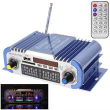 HY601 2 Channels Hi-fi Mini Digital Motorcycle Car Stereo Power Amplifier Sound Mode Audio Music Player Support USB / FM / SD(China (Mainland))