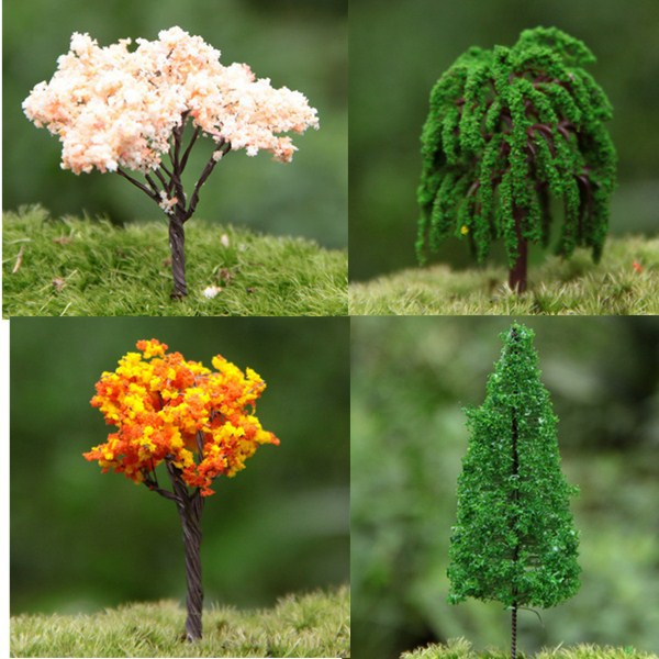 Trees for Miniature Fairy Garden Ornament Dollhouse Plant Pot Figurine DIY Craft AL3312(China (Mainland))