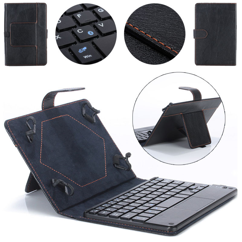 Rainbow Universal 10'' Bluetooth Keyboard Pu Leather Stand Case For Android Microsoft Tablet for Samsung for Lenovo Wholesale(China (Mainland))