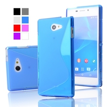 Buy S Line Silicone Cover Rubber Soft Case Sony XPERIA M2 S50h D2303 D2305 D2306 M2 Aqua D2403 D2406 Cell Phone Protective Case for $3.44 in AliExpress store