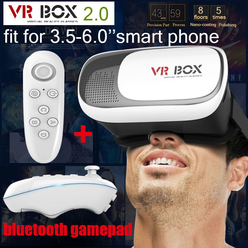 "Гаджет  Google cardboard HeadMount VR BOX 2.0 Version VR Virtual 3D Glasses  for 3.5"" - 6.0"" Smart Phone + bluetooth remote controller None Бытовая электроника"