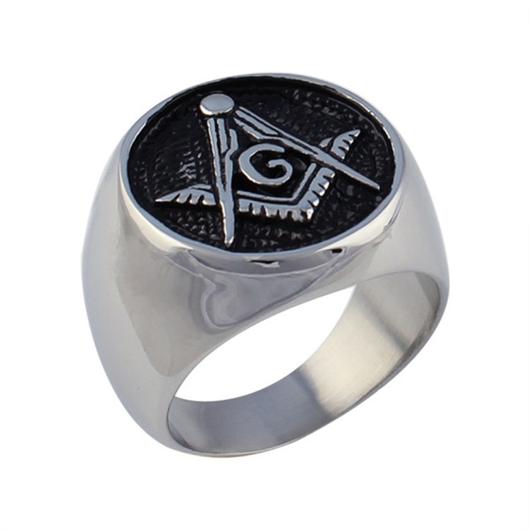 Free Shipping 316L Stainless Steel Masonic Ring for Men, Master Masonic Signet Ring, Free Mason Ring Jewelry(China (Mainland))