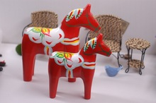Hand Made Wood Home Decroration Dala Horse Sweden National symbol perfect  Wooden crafts for home decoration ,Free shipping(China (Mainland))