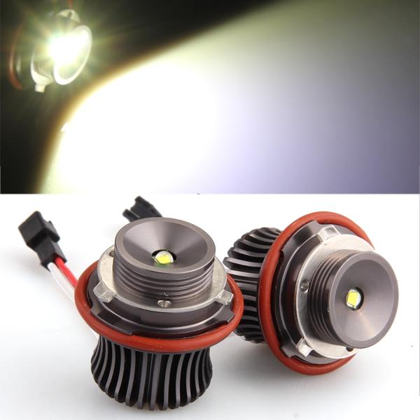 2 H8 10W LED CREE Angel Eye Light White for BMW E39 E53 E65 E66 E60