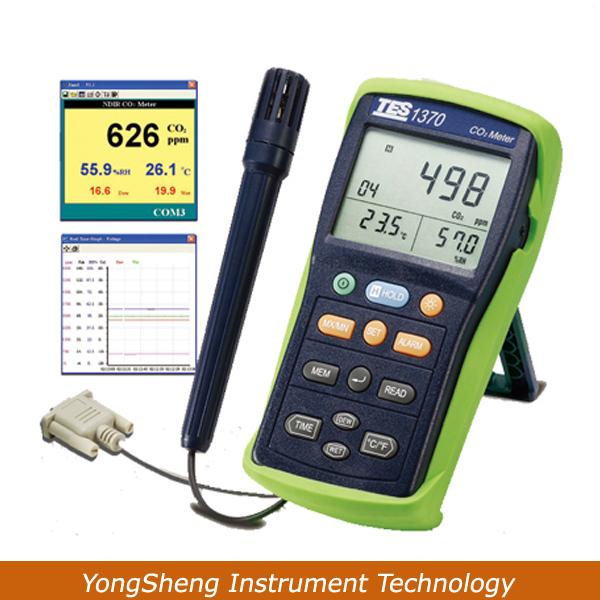 TES-1370 CO2 Meter Analyzer 0-6000ppm Gas Tester(China (Mainland))