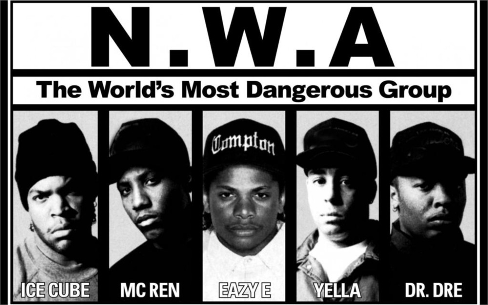 Music N W A BW Ice Cube Mc Ren Eazy E Yella Dr Dre Hip Hop Rap Home Decor Canvas Poster Print 24x36 inch Silk Poster wall decor(China (Mainland))