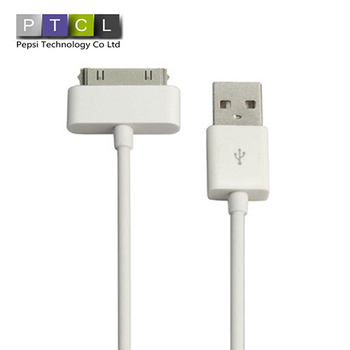 For apple iphone 4 4S ipod touch ipad iPod nano 5 6 PIN data Sync USB Mobile Phone Cable charger Direct Shipping Length: 1M