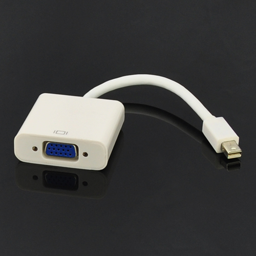 Thunderbolt Port Mini DisplayPort to VGA Adapter TV AV Cable For Macbook Air Pro White(China (Mainland))