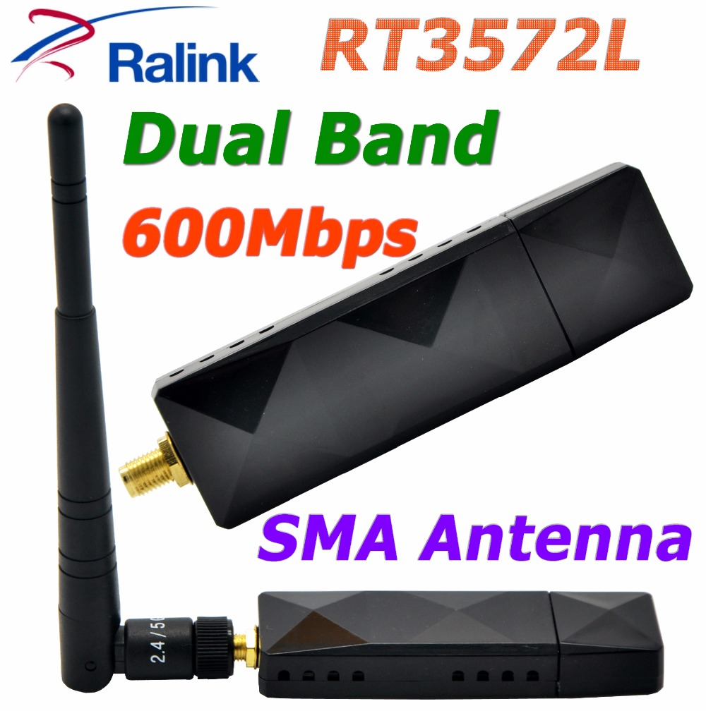 RaLink RT3572L 802.11AC 600Mbps WiFi USB Adapter WiFi Adapter With SMA 5dBi External WiFi Antenna For SamSung TV /Windows 7/8/10(China (Mainland))