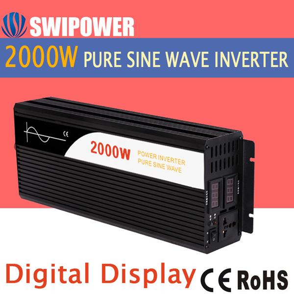 Soar Power Inverter Pure Sine Wave Inverter 2000W DC 12V/24V/48V/60V/96V/110V220V to AC 110V/120V/220V/230V/240V car inverter(China (Mainland))