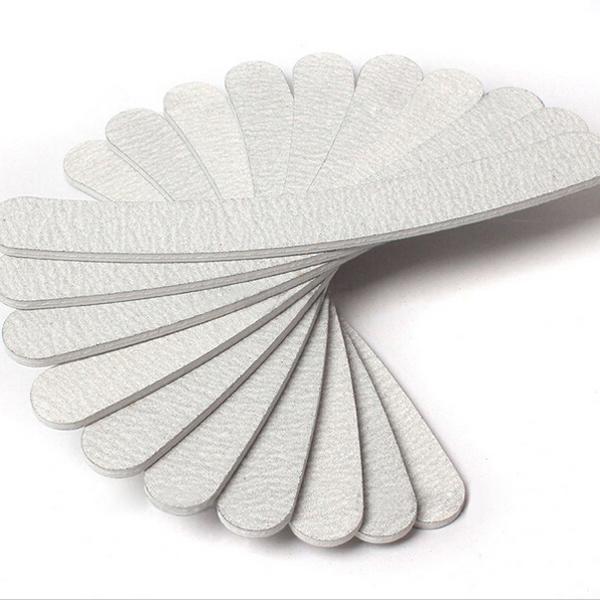 10pcs 18cm Length Grey Sanding 100/180 Curve Banana Shape Nail File For Nail Art Tips Manicure(China (Mainland))