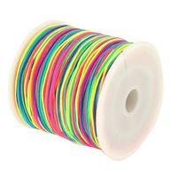 Hot!!! Free Hot 20 Colors 90M Nylon Macrame Cords DIY Braided Bracelet Beading Threads 1mm