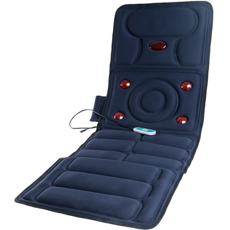 Full-Body Massager Health Care Far Infrared Multifunctional Electric Massage Mattress Cushion Vibration Body Foot Massage Mat(China (Mainland))