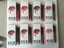 Real Shot! Kylie Jenner Lip Kit Lipgloss & Lip Liner Set KYLIE Lipgloss Waterproof Makeup 8 Colors 120set/lot Via DHL(China (Mainland))