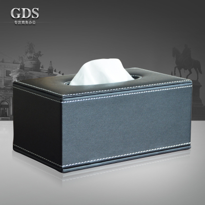 Commercial imitation leather home coffee table fashion table napkin pumping paper towel storage box(China (Mainland))