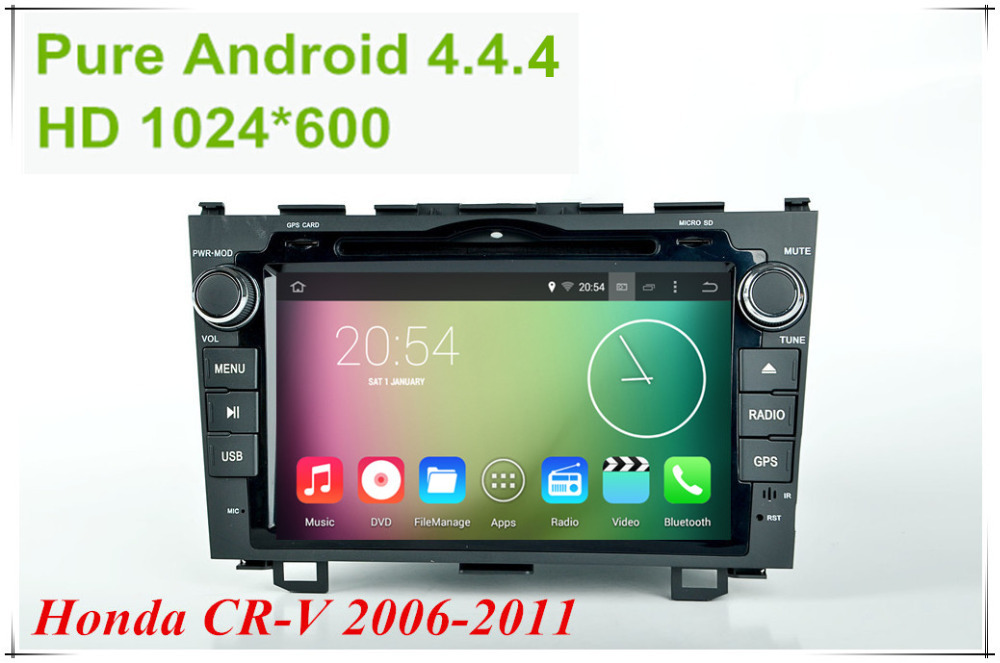 "Android 4.4.4 HD 1024*600 Quad core 1.6GHz Nand Flash 16GB 8"" Car DVD player For Honda CRV 2006-2011(China (Mainland))"