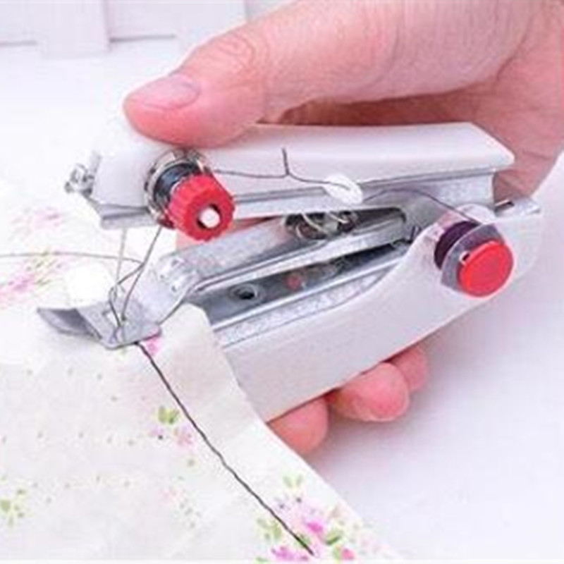 Portable Mini Clothes Sewing Machine Convenient Travel Handheld Sewing Tool Household Gadget