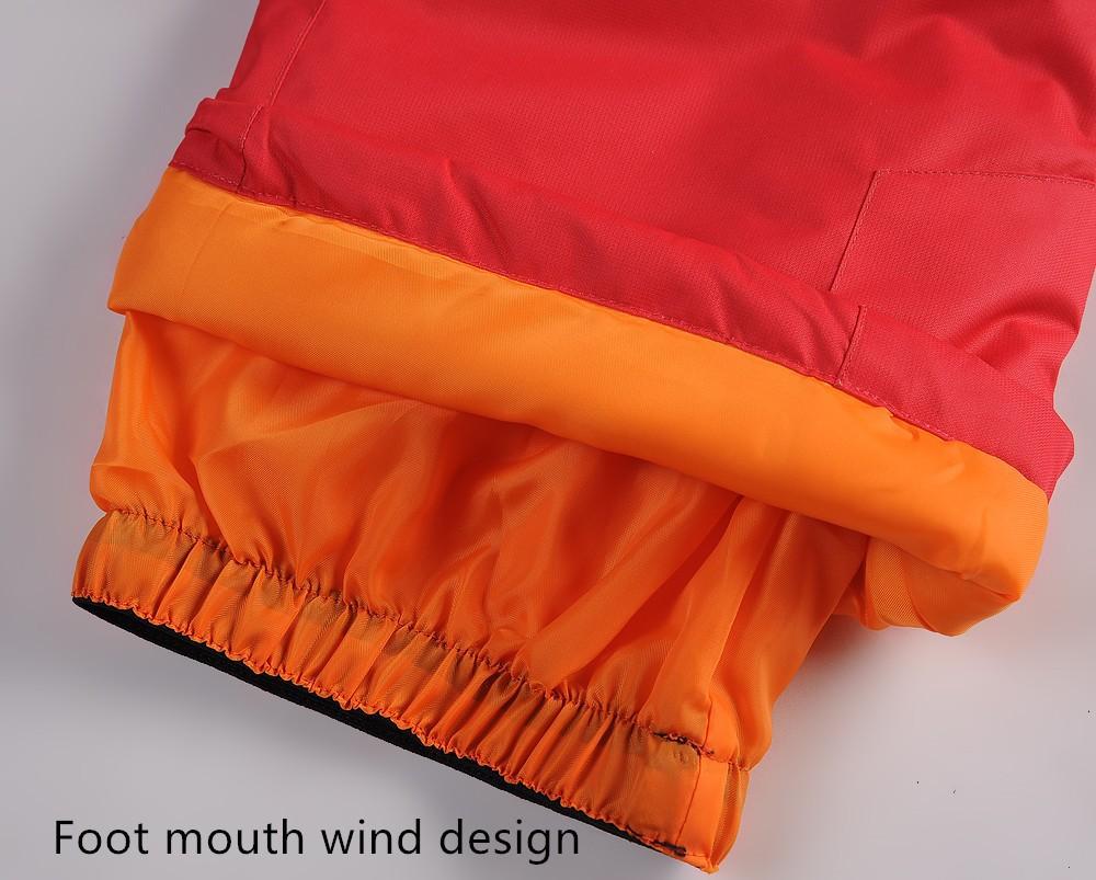 2014new Детская одежда набор ветрозащитная куртка лыжи + брюки снег костюм -20-30 градусов