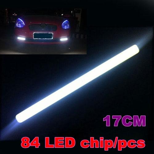 4x 17CM 9W COB 84SMD LED Waterproof Car DRL Driving Daytime Running Light 12V ultra-thin decorative fog lamp 4Pcs Free Shipping(China (Mainland))