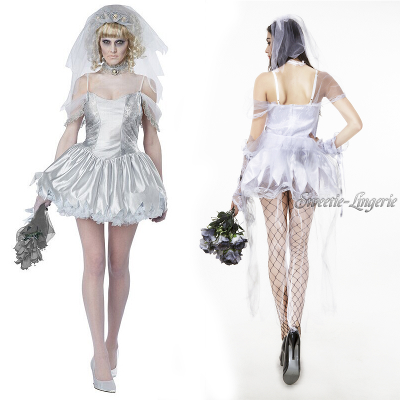 wedding corpse costume adult costume halloween ghost cosplay costume