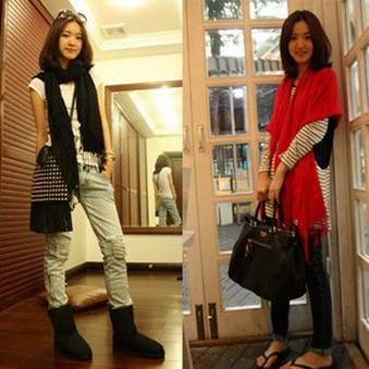 Free shipping Pure Pashmina Scarf female Korean winter long red scarf scarf cashmere XY-C4(China (Mainland))