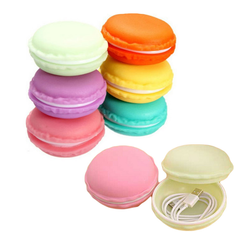 Round Jewelry Storage Box for Necklace Earring Jewelry Organizer Decoration Bulk Cute Candy Color Fashion Macarons Storage Box(China (Mainland))