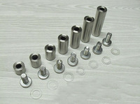 Stainless Steel Advertisement Fixing Screws Glass Standoff Pin(25mmX25mm)