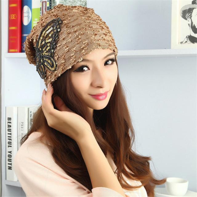Бесплатная доставка вышивать кружева бабочка женщины шляпы Fahion тонкий пятно элегантные ...