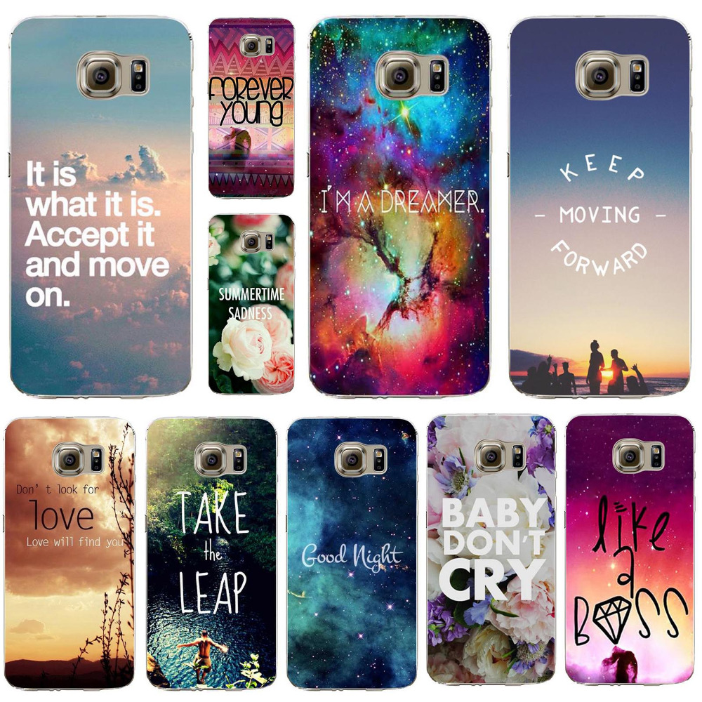 In Stock Phone Cover For Samsung Galaxy S6Edge Beautiful Landscape Romantic Words Designs Silicon Case Populer Pattern Cases(China (Mainland))