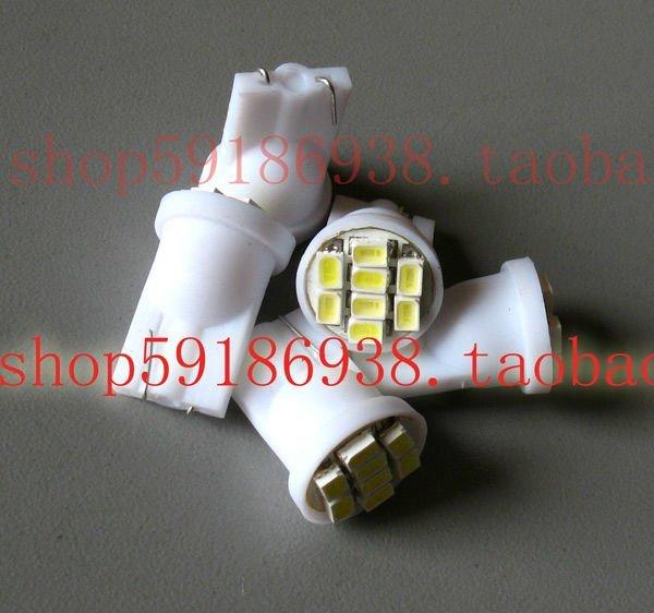 Wholesale 200pcs/lot white T10 194 168 192 W5W 1206smd 8 smd super bright Auto led car  lighting wedge