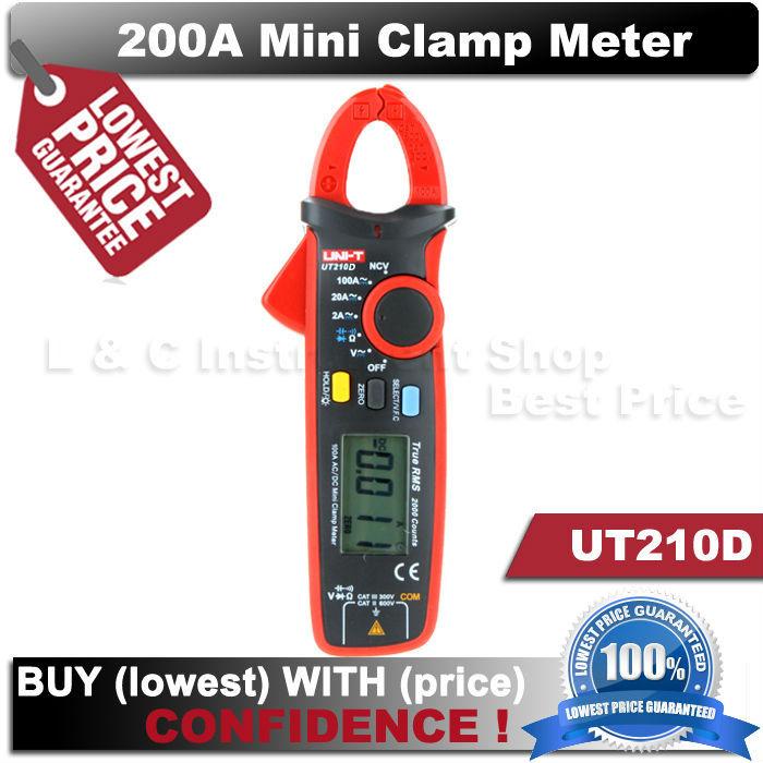 Гаджет  True RMS UNI-T UT210E Mini Clamp Meters digital ammeter dc voltimetro amperimertro UNI T UT 210E dc multimeter clamp None Инструменты