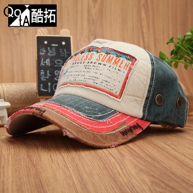 Cap color block women's baseball cap fashion cap outdoor summer millinery sun hat