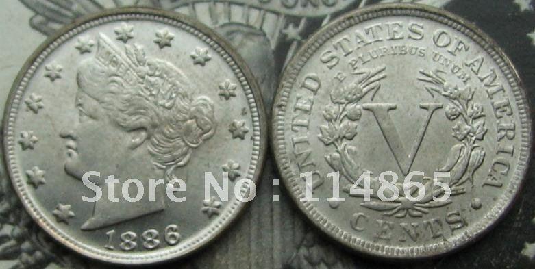 1886 Liberty Head V Nickel COIN COPY FREE SHIPPING(China (Mainland))