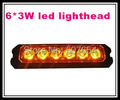 High intensity 10 30V DC 6 3W Led car surface mount grill warning lights lightheads strobe