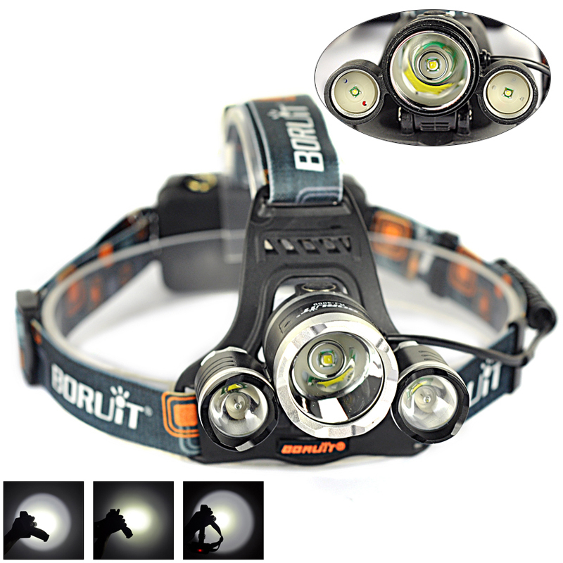 Cheap!!3 LED Lamps 1*XML T6 +2R2 5000LM Headlight 4 modes Linterna Frontal Head Light Headlamp For Camping Outdoor Sport(China (Mainland))