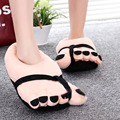 Home Shoes Funny Winter Indoors Toe Big Feet Warm Cotton Soft Plush Slippers Novelty Gift Adult
