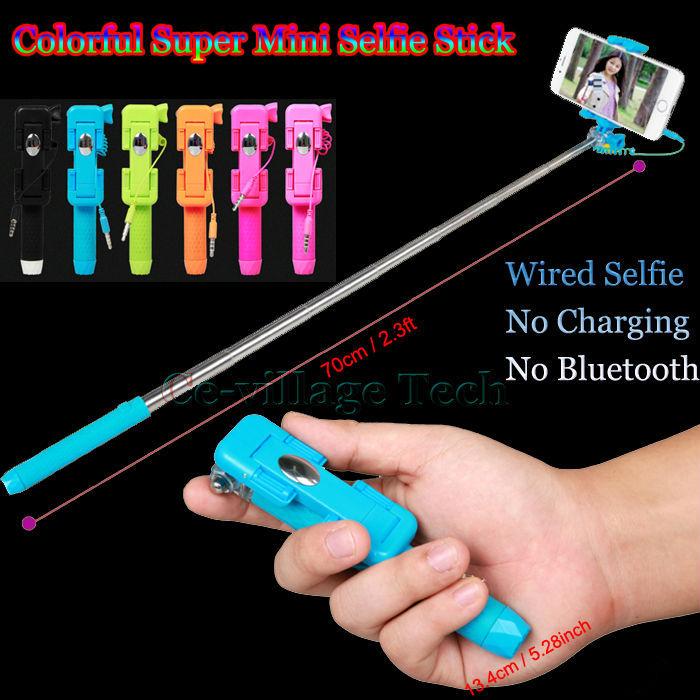 buy portable mini pen size selfie stick extendable handheld. Black Bedroom Furniture Sets. Home Design Ideas
