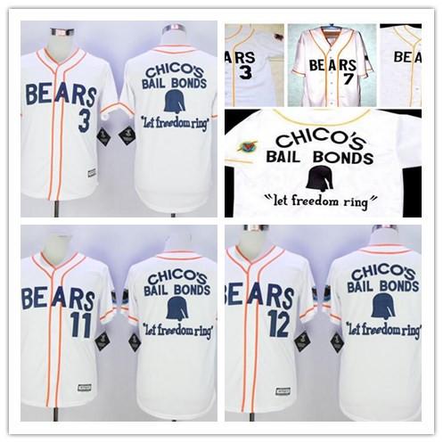 Enshrinement The Bad News Bears Movie Jerseys,Men's #3,4,7,12,13,17,20 Walter Matthau Chicos Bail Bonds custom Baseball Jersey(China (Mainland))