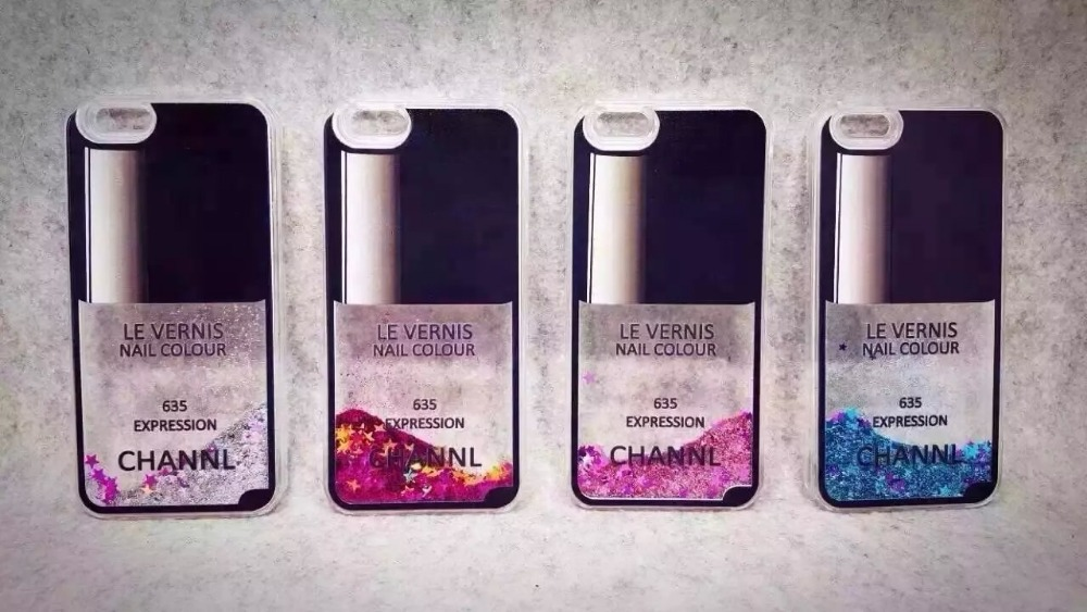 Fashion Nail Polish Perfume case For iPhone5 5S Liquid Quicksand Stars Bling Sparkle Crystal Hard phone Case Skin for iphone5 5s(China (Mainland))