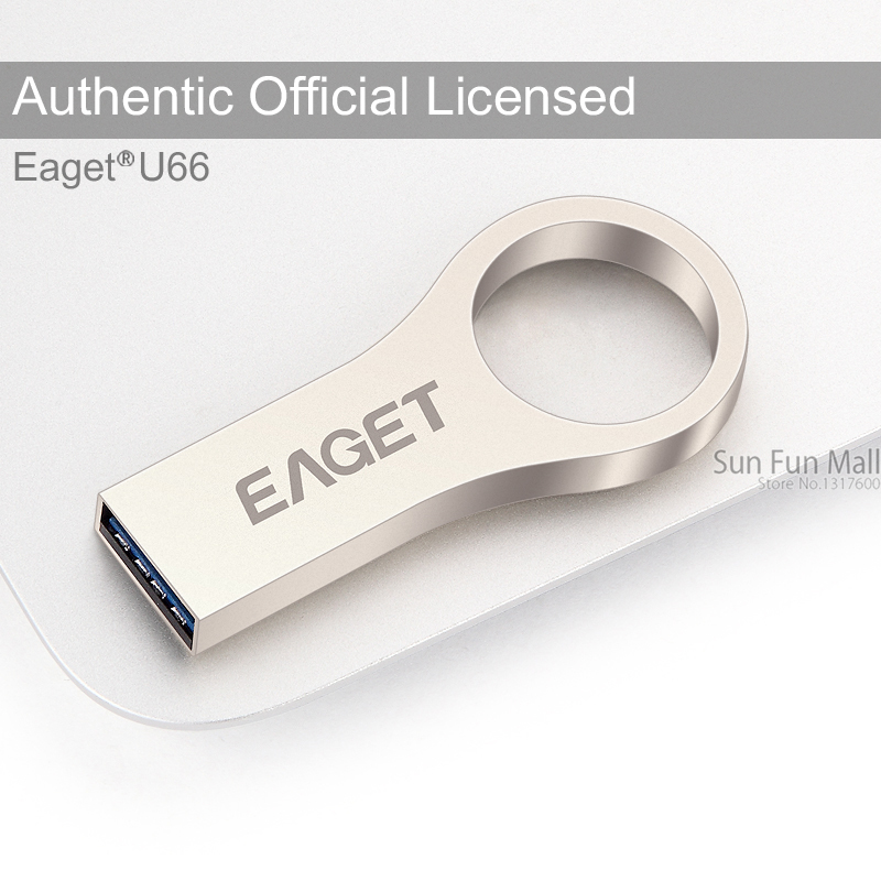 EAGET U66 Official 16G 32G 64G USB Flash Drive USB 3.0 Ultra Fast Key Ring USB Stick Memory Flash Stick Pen Drive(China (Mainland))