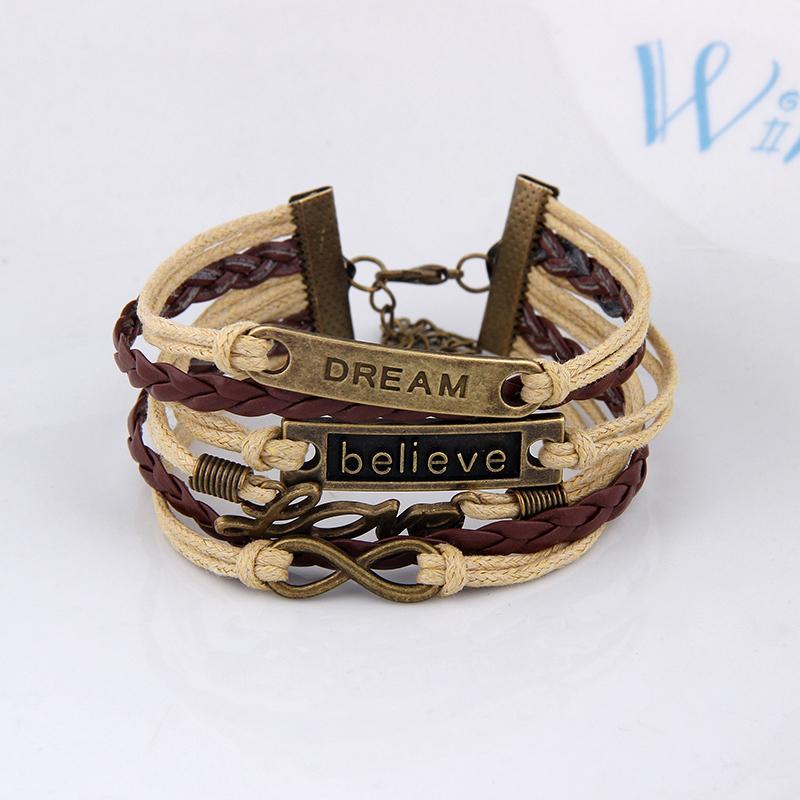 8 Styles Fashion Womens Bracelet Anchor Hunger of Games Bangles Vintage pulseira Multilayer Bracelets men Wholesale