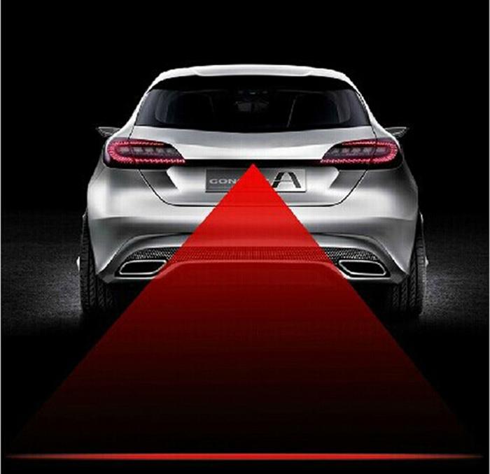 2016 Newest Anti Collision Rear-end Car Laser Tail Fog Light Auto Brake Parking Lamp Rearing Warning Light Car Styling(China (Mainland))