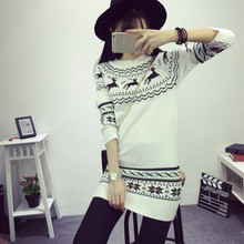 Ugly christmas sweaters for women deer in the fall winter edition of 2015 new Korean ladies sweater snowflake slim sweater c20