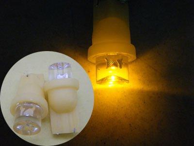 10pcs T10 Plug Bulb W5W LED Wedge Inverted Side Light Bulb(China (Mainland))